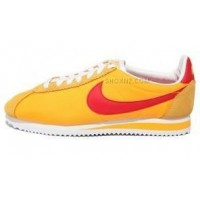 Women Nike Cortez Oxford Cloth Shoes Yellow Red