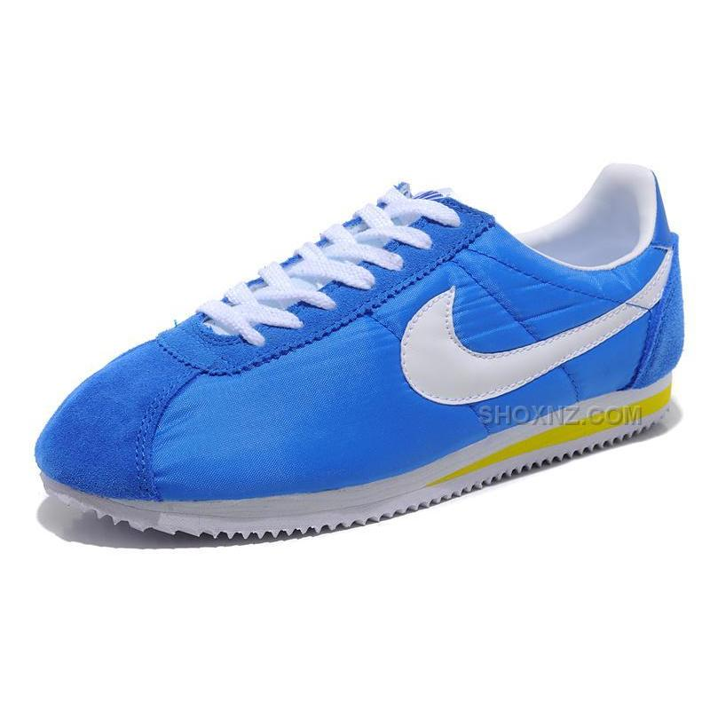 nike cortez oxford cloth shoes blue white price 79