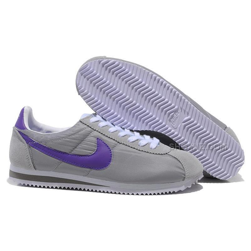 Men Nike Cortez Oxford Cloth Shoes Grey Purple Price $79.00 - Shox NZ - Nike Shox NZ Running ...