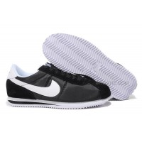 Nike Cortez Men Nylon Shoes Black White
