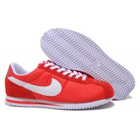 Nike Cortez Men Nylon Shoes Bright Red
