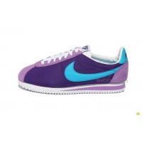 Nike Cortez Men Nylon Shoes Purple Blue