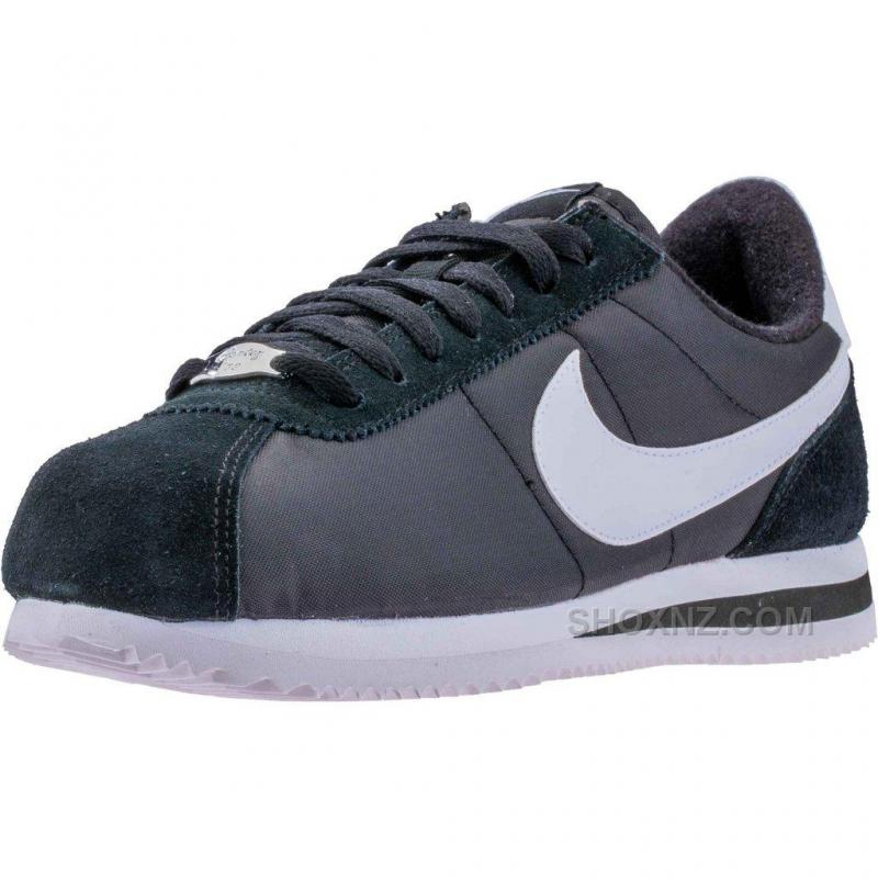new concept 9a6b1 7e2da Nike Cortez Basic Nylon (Mens) - Black/White/Metallic Silver