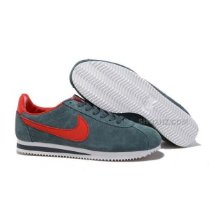 Men Nike Cortez Anti-Fur Shoes Grey Red