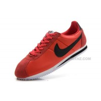 Men Nike Cortez Oxford Cloth Snake New Red Black