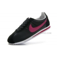 Women Nike Cortez Oxford Cloth Snake New Black Rose