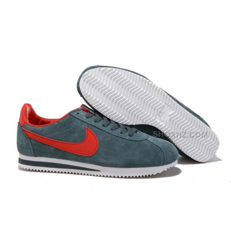 Women Nike Cortez Anti-Fur Shoes Grey Red