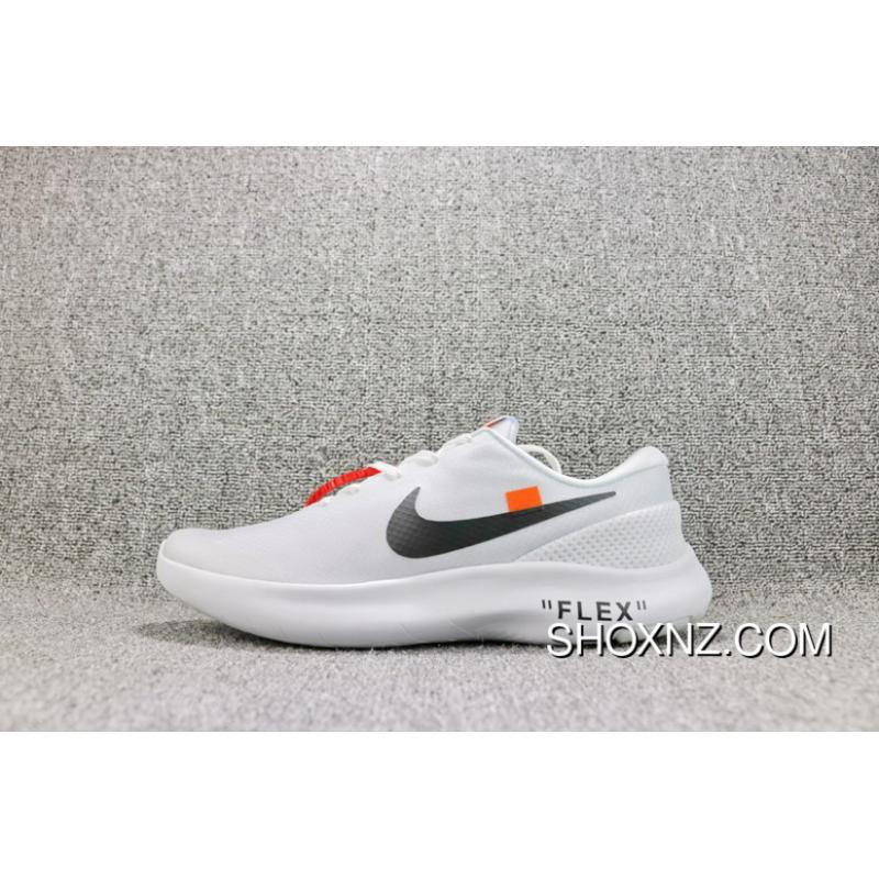 9b97a8bcf751 OFF-WHITE X Nike FLEX EXPERIENCE RN 7 Barefoot 7 Collaboration Publishing  Breathable Mesh Sport Running Shoes Women Shoes And Men Shoes AJ9089-100  Super ...