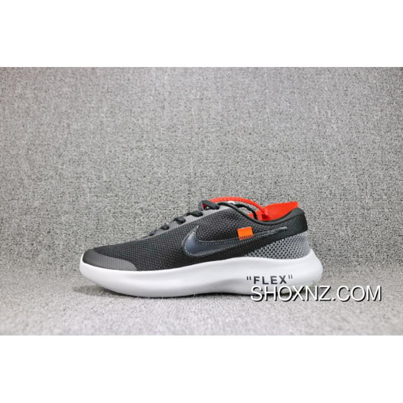e0c51150d98 OFF-WHITE X Nike FLEX EXPERIENCE RN 7 Barefoot 7 Collaboration Publishing  Breathable Mesh Sport ...