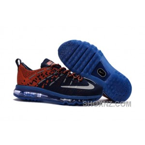 2017 New Kids Nike Flyknit Zoom Air Blue Orange Red Copuon Code MHNXb
