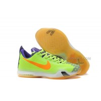 Nike Kobe 10 Basketball Shoes Volt/Purple-White