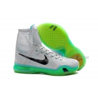 Nike Kobe 10 High Top Elite Elevate Wolf Grey White Light Retro Cheap Sale
