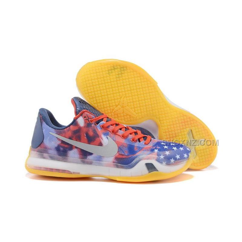 Nike Kobe 10 X USA Independence Day University Red Reflect Silver-Photo Blue  ...