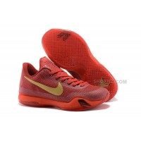 Cheap Nike Kobe 10 Red Gold For Sale Online