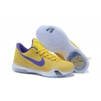 "Kobe 10 Safari Print ""Yellow Purple"" For Sale"