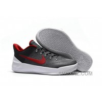 Cheap Nike Kobe A.D. 12 Wolf Grey Red White Online IwaykDQ