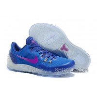 Cheap Genuine Nike Zoom Kobe Venomenon 5 Soar Deep Royal Blue Wolf Grey Vivid Purple Free Shipping DYAb3A