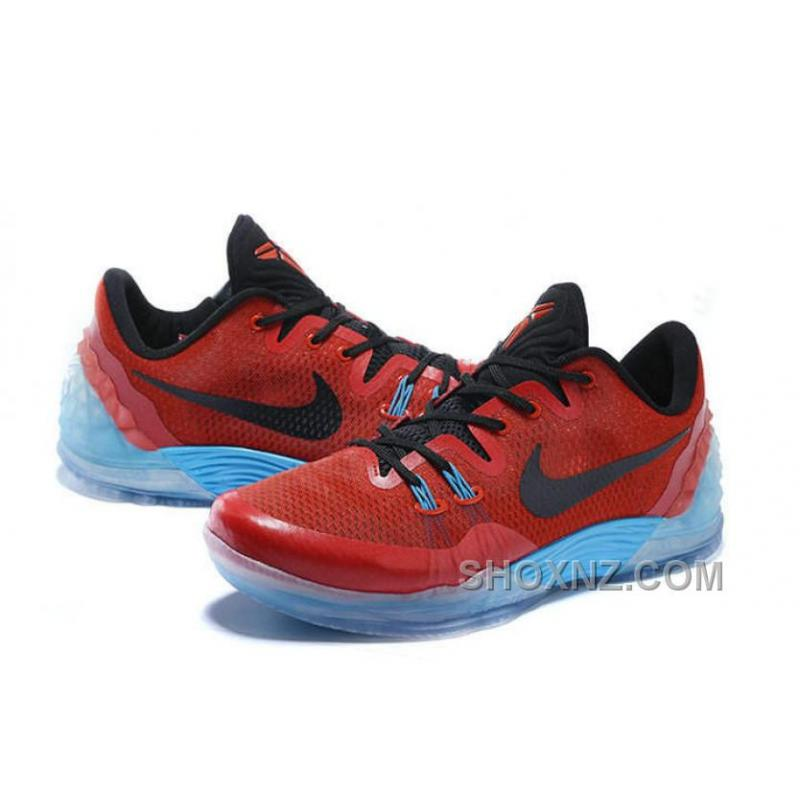 ... Discount Cheap Nike Zoom Kobe Venomenon 5 Red Black Soft Blue Online  XnF6a ...
