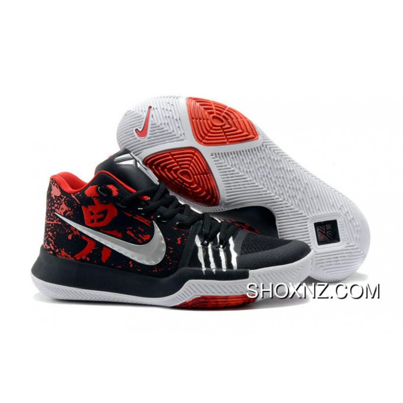 Nike Kyrie 3 Nike Kyrie 3 Bruce Lee Black Red Irving Basketball Shoes Outlet
