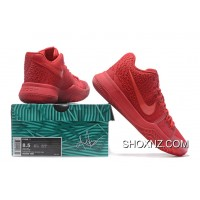 Nike Kyrie 3 Mens BasketBall Shoes All RedNIKE Online BejtaZ