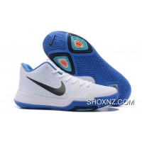 Nike Kyrie 3 Mens BasketBall Shoes White Blue Cheap To Buy RxdBByC