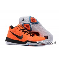 Nike Kyrie 3 Mens BasketBall Shoes Orange Black Discount XxTTnA