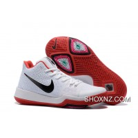 Nike Kyrie 3 Mens BasketBall Shoes White Red Cheap To Buy TCrKkcE