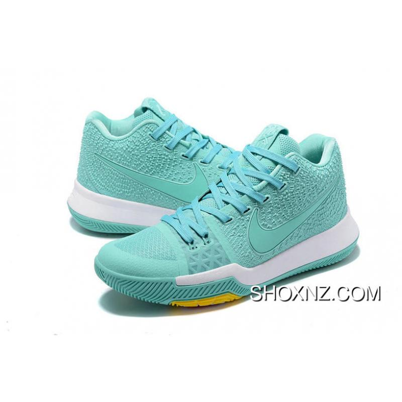 low priced 6ac73 ceb61 Shop Nike Kyrie 3 Mint Green White Yellow Best