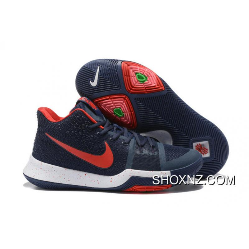 Nike Kyrie 3 White Navy Red