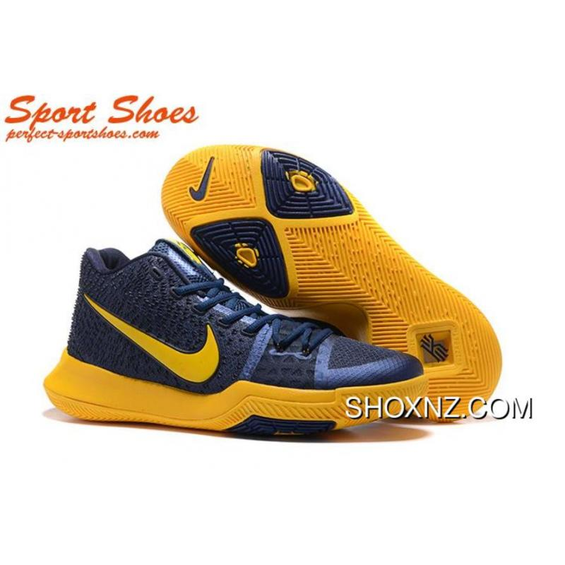 separation shoes e1774 08033 2017 Latest Nike Kyrie Irving III 3 Mens Sneakers Yallow Navy Blue Online