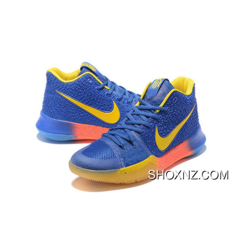 super popular c2edd 44e17 100% Authentic Nike Kyrie 3 Royal Blue Yellow Discount