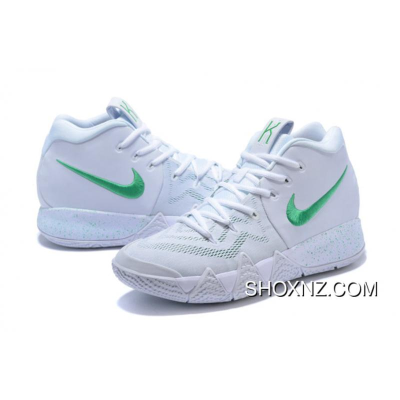 ec7ef757c36d ... Nike Kyrie 4 White Green Kyrie Irving Iv Basketball Shoes Top Deals ...