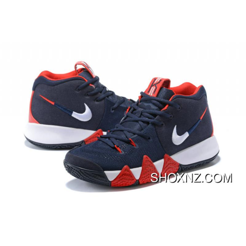 ... Nike Kyrie 4 Usa American Team Dark Blue Red Kyrie Irving 4 Basketball  Shoes New Year ...