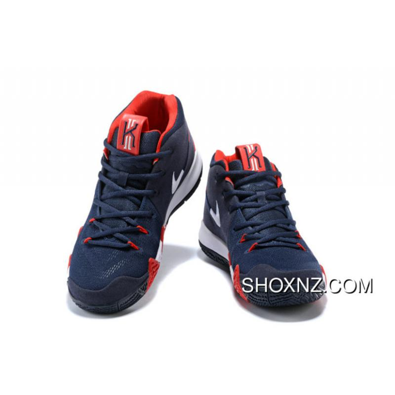 5126d4ab78e Nike Kyrie 4 Usa American Team Dark Blue Red Kyrie Irving 4 Basketball Shoes  New Year Deals