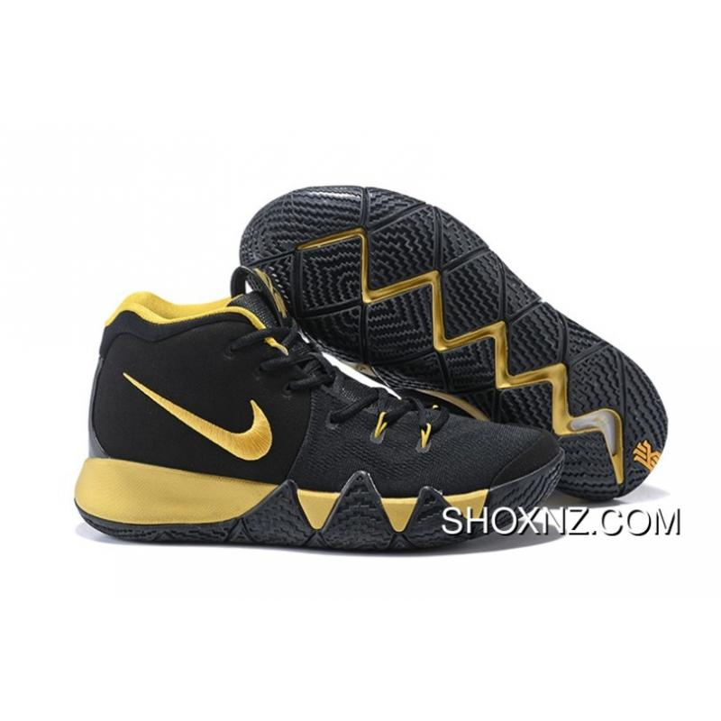 2018 Nike Kyrie 4 Black And Gold New Release