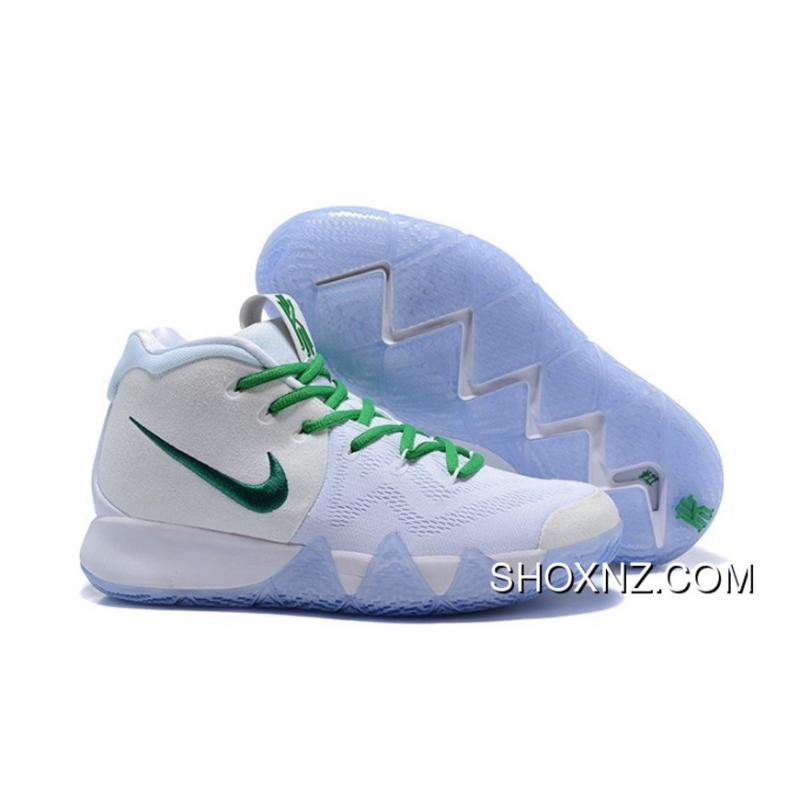 Nike Kyrie 4 Four Celtics Pe White Green With Icy Outsole On Copuon
