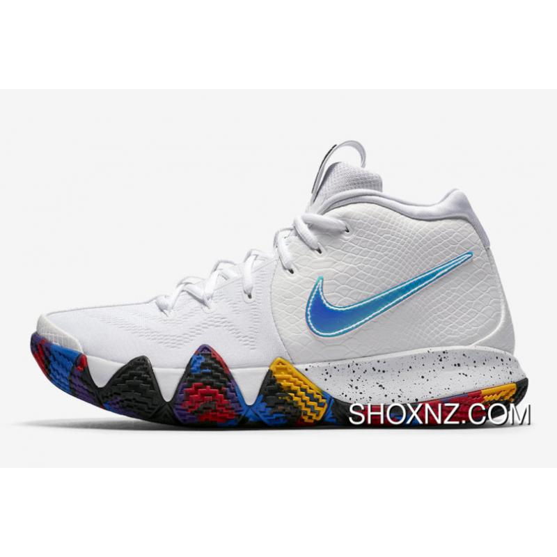 ab7f3ae4139 USD  87.28  244.40. 2018 Nike Kyrie 4 White Multi-Color Outlet ...