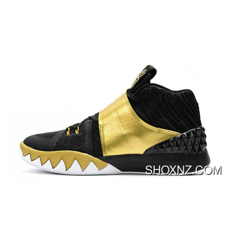 7d7651c6bb Nike Kyrie S1 Hybrid Black Gold Basketball Shoes For Sale, Price ...
