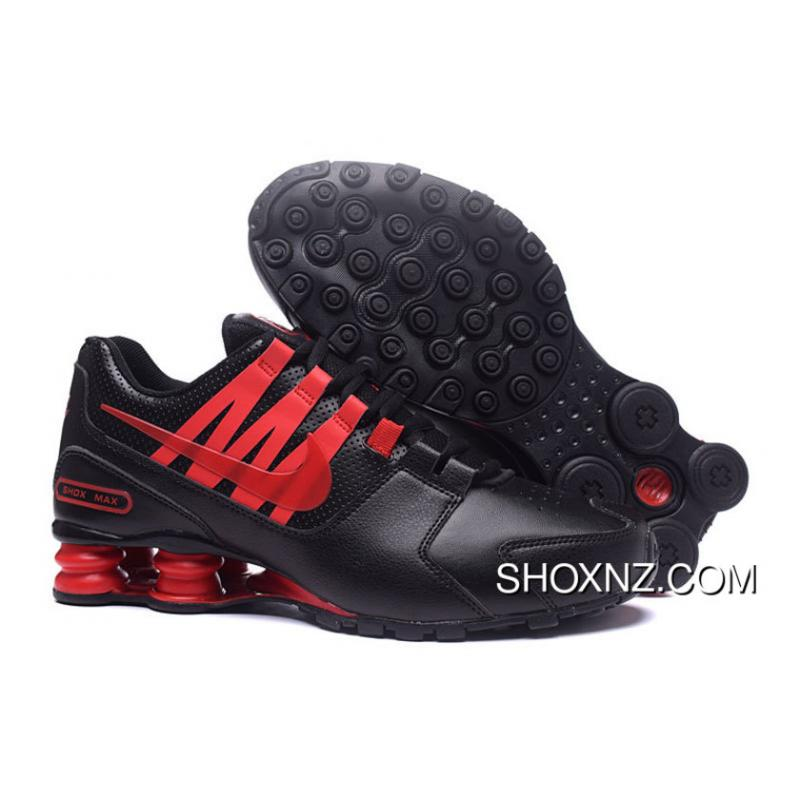 nike shox nz mens running shoes black/red