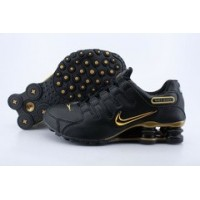 Nike Shox NZ Black Metallic Gold