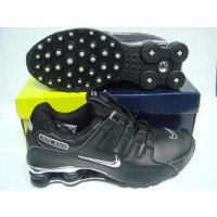Nike Shox NZ Black Metallic Silver