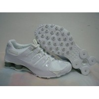 Nike Shox NZ White Patent Dim Grey