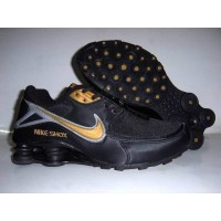 Nike Shox NZ Black Metallic Gold Grey