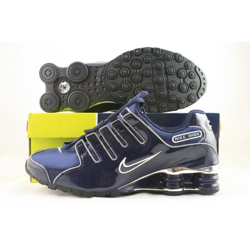 Nike Shox NZ Navy Patent White