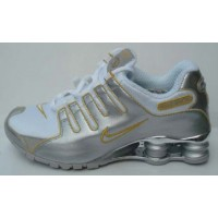 Nike Shox NZ Silver Gold White