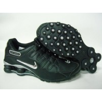 Nike Shox NZ Black Metallic Silver Grey
