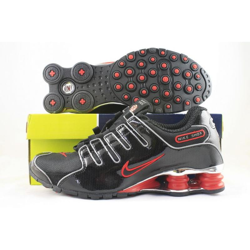 buy online 05b8b 0280e Nike Shox NZ Black Patent Varsity Red White