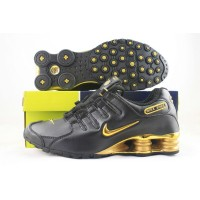 Nike Shox NZ Black Shiny Gold