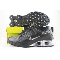 Nike Shox NZ Black Shiny Silver