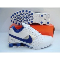 Nike Shox OZ White Blue Silver